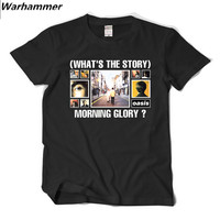 Oasis Men T Shirt Britpop Rock Style Printed Cotton Short Sleeve O Neck Tee Shirt Homme