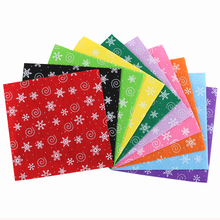 Nanchuang 1mm Thickness Snowflake Printed Non Woven Felt Fabric For DIY Handmade Sewing Doll&Crafts Material 10Pcs/Pack 30x30cm