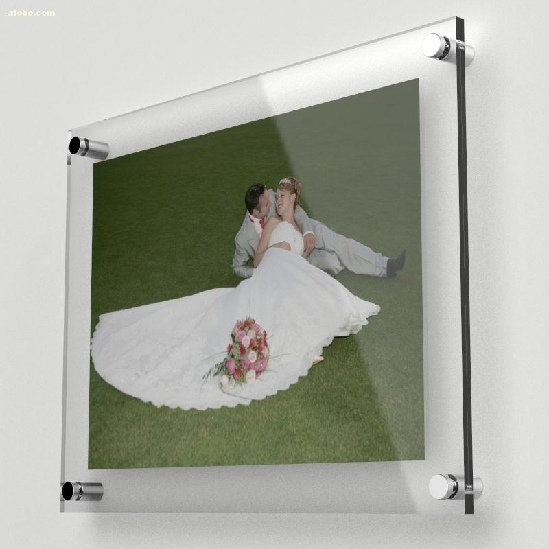 10 Unit/Lot ) Wall Mounted A4 Acrylic Plexiglass Poster Frames ...
