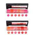 6pcs/Set Waterproof Long Lasting Lip Gloss Moisturizing Nude Lipstick Gloss Palette For Women Lip Care Makeup