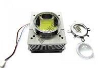 1pcs LED CPU Fan Heatsink+44mm Optical len+Reflector+Fixed Bracket+Fan Power Supply For 20w~ 50w LED Grow Bulb Light Cooling
