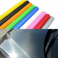 2m/5m/10m/20mX152cm 4D Carbon Fiber Vinyl Film Car Stickers Carbon Fibre Wrap Sheet Roll Automobiles Car styling Accessories