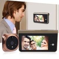 4.3inch LCD Color Screen Digital Doorbell Door Eye Wireless Intercom Electronic Peephole Door Camera Viewer Outdoor Door Bell