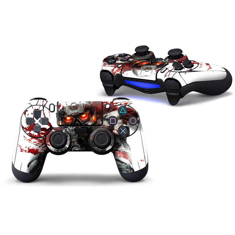 Popular 2 Pieces skin sticker for ps4 controller for ps4 games protective cover for ps4 sticker ps4 controller skin sticker