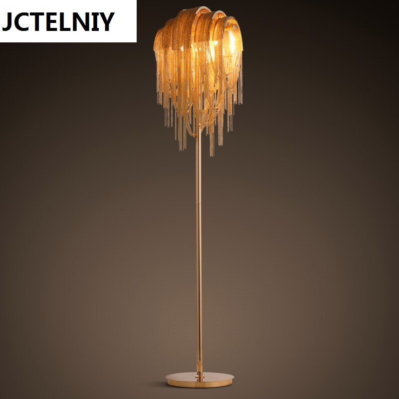 Personalized decoration floor lamp luxury chain tassel living room led floor lamp ...