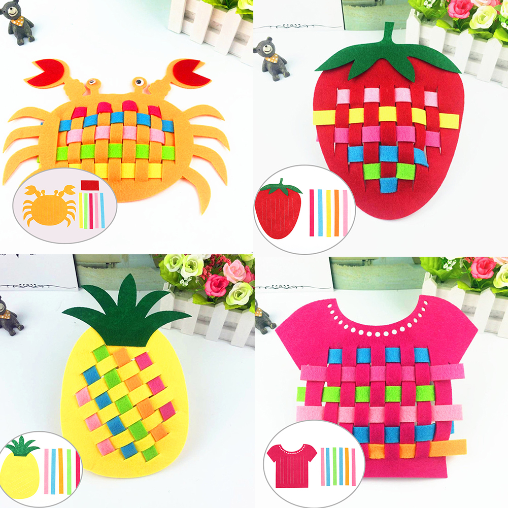 Creative Cute Knitting Training Woven Toys Cognitive Color Kids DIY Educatioanal Early Learning Gift Development Toy