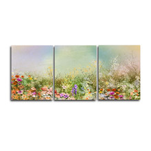 Watercolor Flowers Abstract Canvas Oil Painting Wall Artwork Posters and Prints, Wall Picture Home Living Room Bedroom No Frame(China)