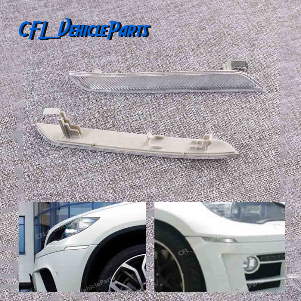 For BMW X5 xDrive Front Bumper Cover Reflector SET Left /& Right Side Marker