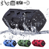 Waterproof Wireless Bluetooth Speaker NFC 1800mAh Shockproof Stereo Player Soundbar Bicycle Cycling Audio Subwoofer BoomBox Som