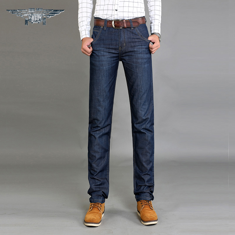 Hot market The New 2016 Jeans Men's Business Jeans Breathable Loose Water Straight Canister JP8002 # the vietnamese market cookbook