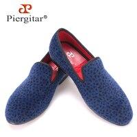 Piergitar 2017 Two Color Leopard Pattern Men Velvet Shoes Fashion Party And Wedding Men Dress Shoe