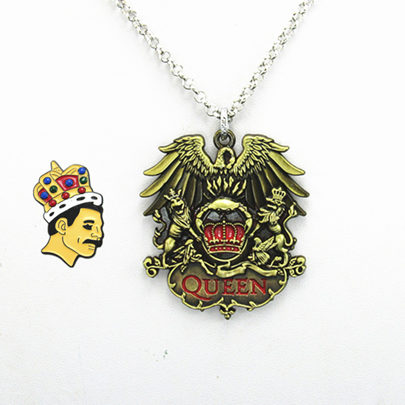 Jewelry & Watches Queen Rock Band Freddie Mercury Necklace Pendant Neck Chain Queen Metal Fob Necklaces & Pendants