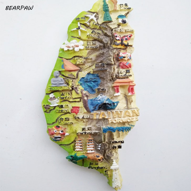 1Pcs/set Hot Sale China TaiWan Formosa Tourist Travel Souvenir 3D Resin Fridge Magnet Craft GIFT