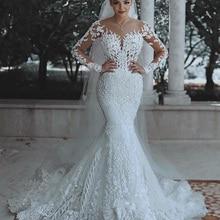 Wuzhiyi, свадебное платье русалки,, на заказ, vestido de noiva, с рукавами-крылышками, на молнии сзади, свадебное платье с аппликацией, robe de mariee