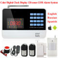 6120G Wireless Home Security GSM Alarm System APP Remote Control PIR Sensor Door Sensor Security Alarm Russian Spanish Voice