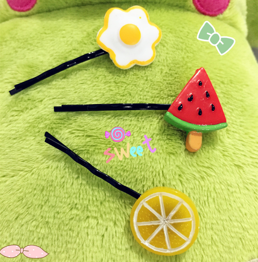 Japanese hair ornaments - Online Shop Fashionable Cute Japanese Style Hair Accessories Girl S Hairpins Hair Tool Summer Style Fruit Food Hair Accessories Aliexpress Mobile