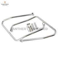 Chrome Motorcycle Saddlebag Support Brackets Case for Harley Sportster XL 883 1200 XL883 XL1200 2004 2016