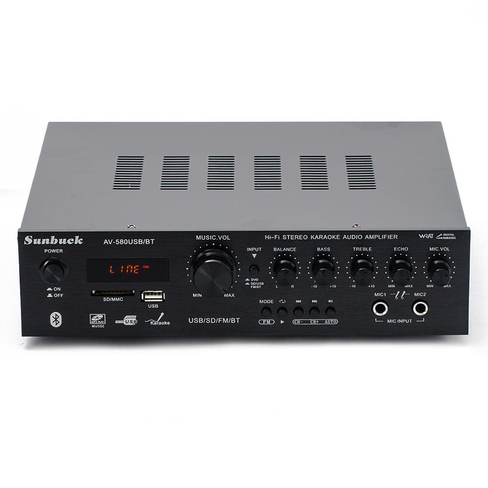 220V 5.1 Channel 300W High Power SD USB FM Bluetooth Remote Control Power Amplifier Home AV Amplifier
