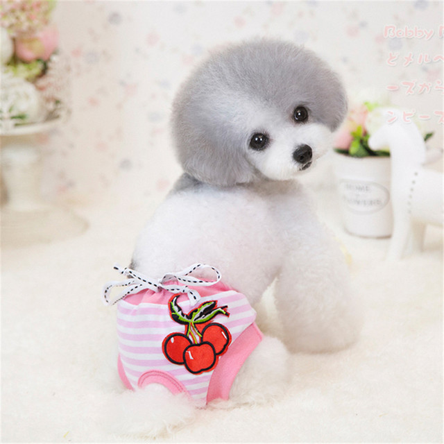 Pet Cotton Pink Sanitary Panties Underwear Shorts Diapers With