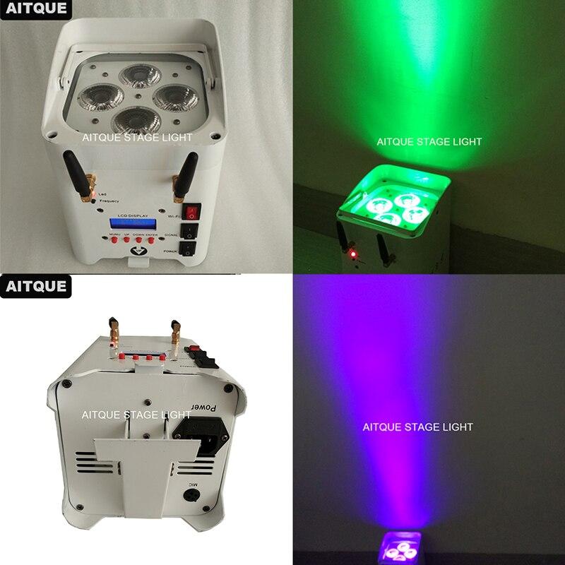 30lot Stage lights battery par 4x12w rgbwa uv rechargeable battery powered wireless dmx led par wifi battery