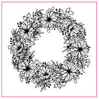 Flower Wreath Ring Pattern Silicone Stamp Rubber Seal Transparent Clear For Scrapbook Album Embossing Decor DIY Crafts 10