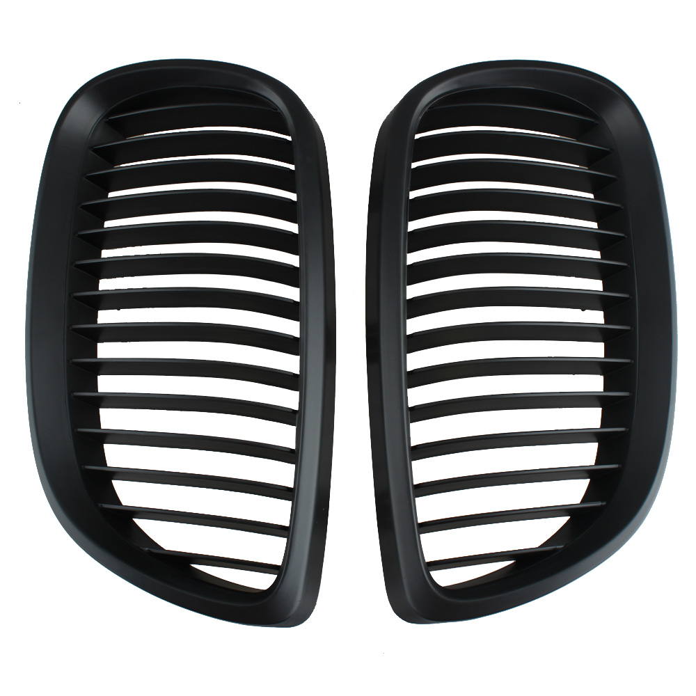 1 Pair For BMW E92 E93 3 Series Coupe Cabriolet Kidney Grill Grille Matt Black 2006 to 2010