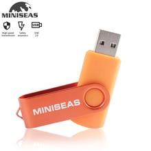 Miniseas Usb флэш-накопитель в режиме реального Ёмкость 10 Красочные поверните ключ 128G/16G/32G/64 gb Оперативная память USB флэш-накопитель