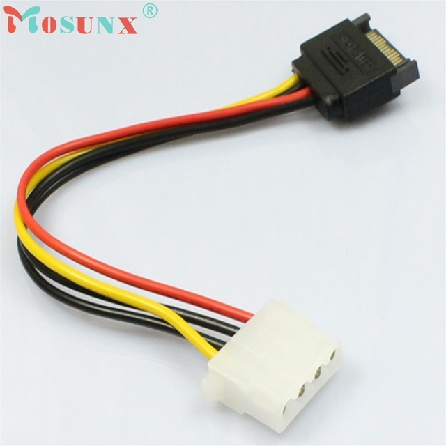 15 Pin SATA Male to 4 Pin Molex Female IDE HDD power жесткий диск Cable_KXL0220