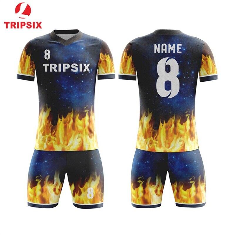Футболка на заказ футболки для футбольной команды дизайн футбольный Джерси 2019 футбольный комплект мужские спортивные костюмы Бесплатная д