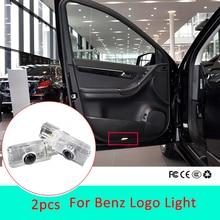 2X светодиодный Автомобильный Дверной светильник для Mercedes Benz ML W164 ML450 ML35 R w251 GL X16 AMG, светильник с логотипом, лазерный проектор, аксессуары для стайлинга автомобилей