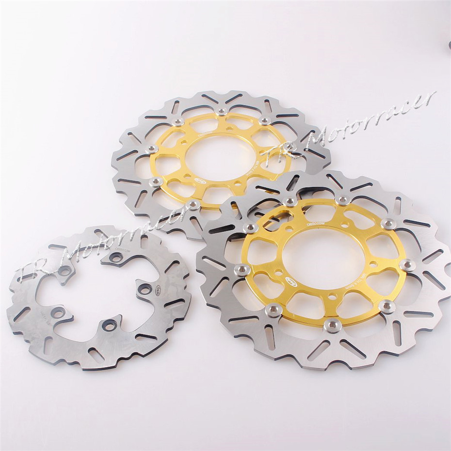 1 Set Front & Rear Brake Disc Rotors For Suzuki 2006 2007 GSXR 600 750 & 2005 - 2008 GSX-R 1000 Motorcycle Disk aftermarket free shipping motorcycle parts for motorcycle 2006 2007 suzuki gsxr 600 750 2005 2008 gsx r 1000 chrome