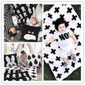 Super Soft Flannel Baby Boy Girls Blanket Kid Bedding Air Conditioning Blankets Fashion Swaddling Cross Rabbit Style 90X120CM