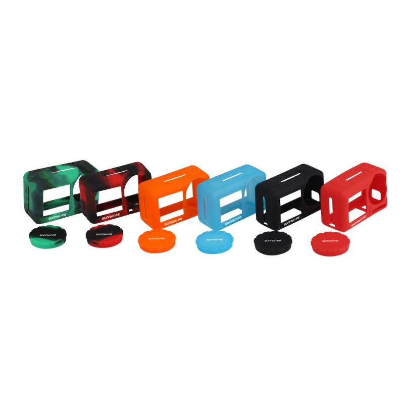 New Durable Scratch Resistant Mini Frame Protective Silicone Cage Shell Cover Lens Case for DJI Osmo Action Camera Accessories in Sports Camcorder Cases from Consumer Electronics