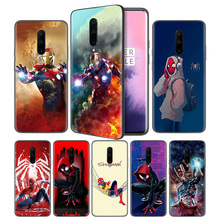 Marvel's The Avengers Marvel Soft Black Silicone Case Cover for OnePlus 6 6T 7 Pro 5G Ultra-thin TPU Phone Back Protective