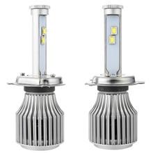 Automotive Headlamp H4 6000K X7 LED Headlight Bulbs All-in-one Conversion Kit Car Headlight Auto Front Fog Light Bulb White Led