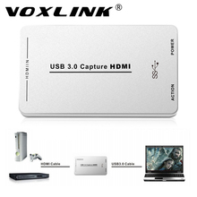 VOXLINK HDMI Video Capture with USB3.0/2.0 Dongle 1080P 60FPS Drive-Free Capture Card Box for Windows Linux Os X System