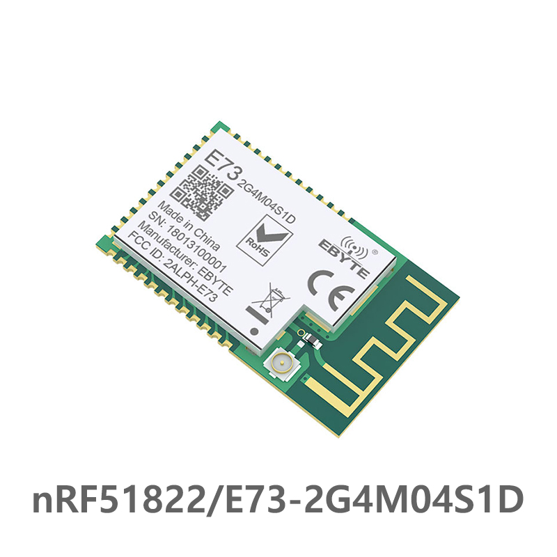 nRF51822 Ble 4.2 Wireless Module E73 2G4M04S1D 4dBm Bluetooth Transmitter Receiver Data transmission PCB IPEX Antenna Interface-in Fixed Wireless Terminals from Cellphones & Telecommunications