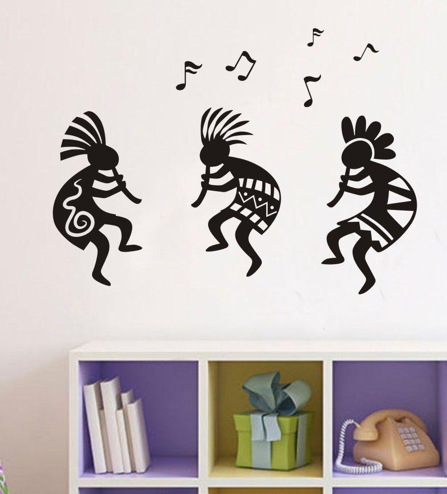 D418 SOUTHWEST KOKOPELLI Race Tribe Celebrate Music Vinyl Decal Wall Quote Sticker