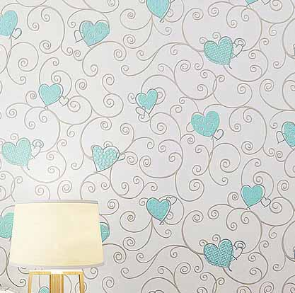 3d Love Non Woven Wallpaper 3d Wall Paper Girls Kids Room Princess For Home Decoration