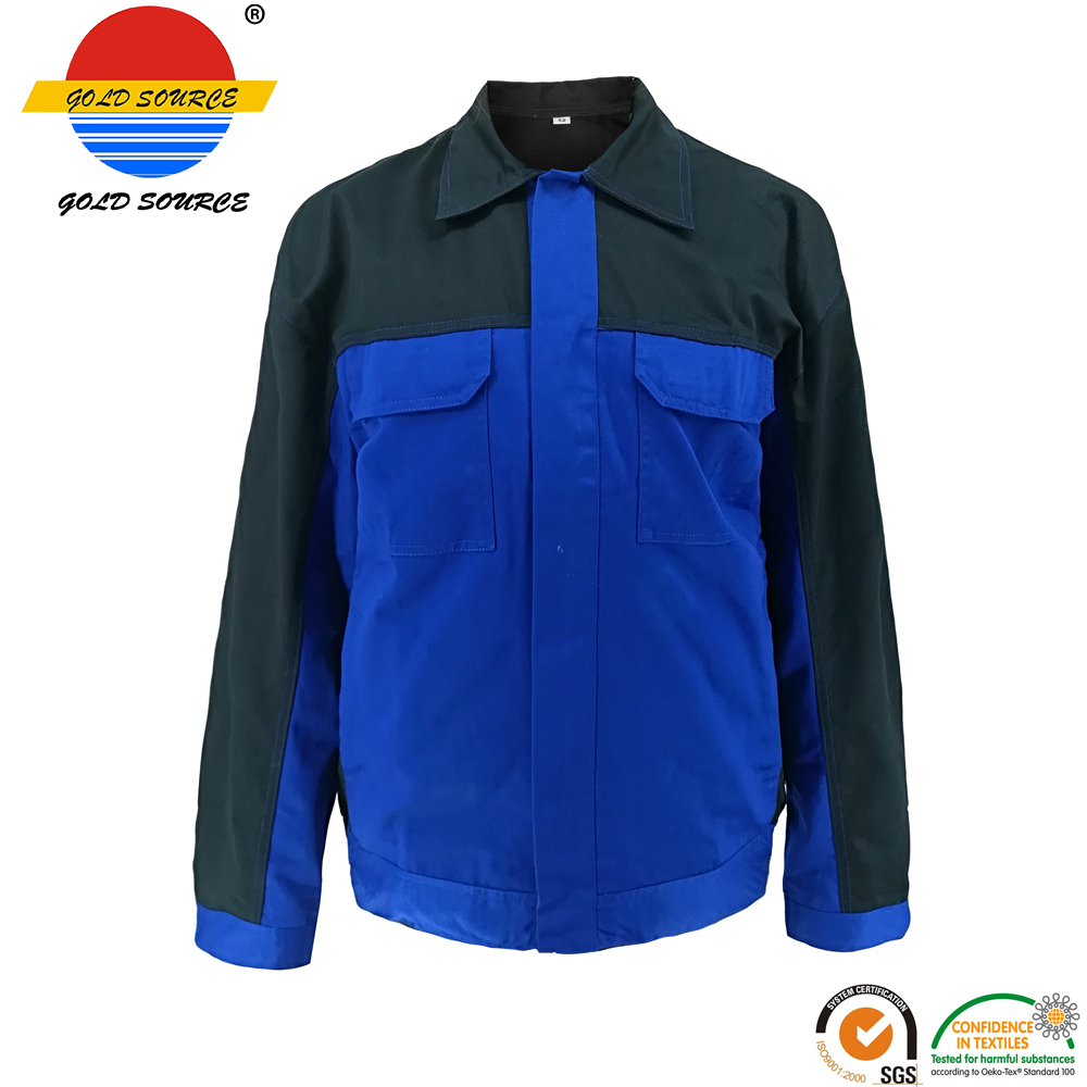 Factoray On Sales Cheap Long Sleeves Twill Industry Workwear Construction Jackets Durable Service Safety Clothing Security & Protection