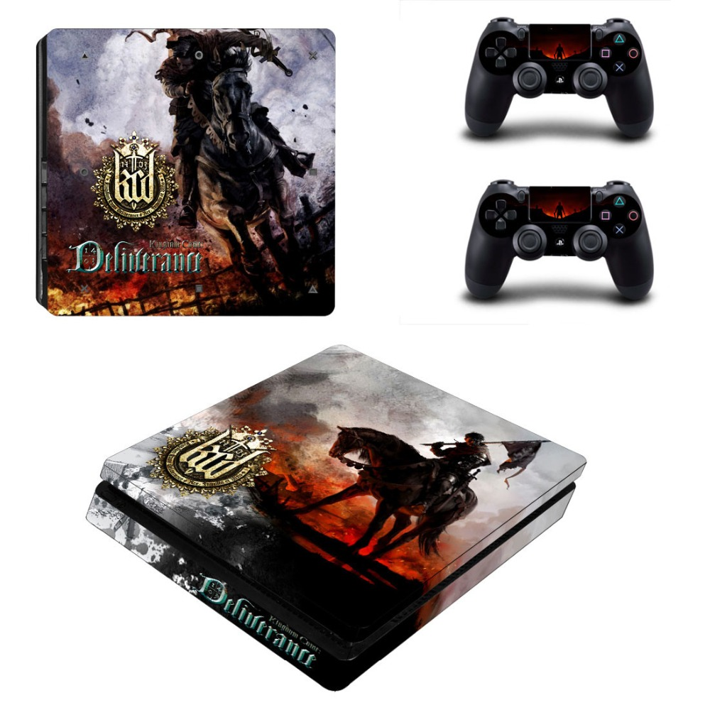 Kingdom Come: Deliverance PS4 Pro Skin Sticker Decals Designed for PlayStation4 Slim Console and 2 controller skins