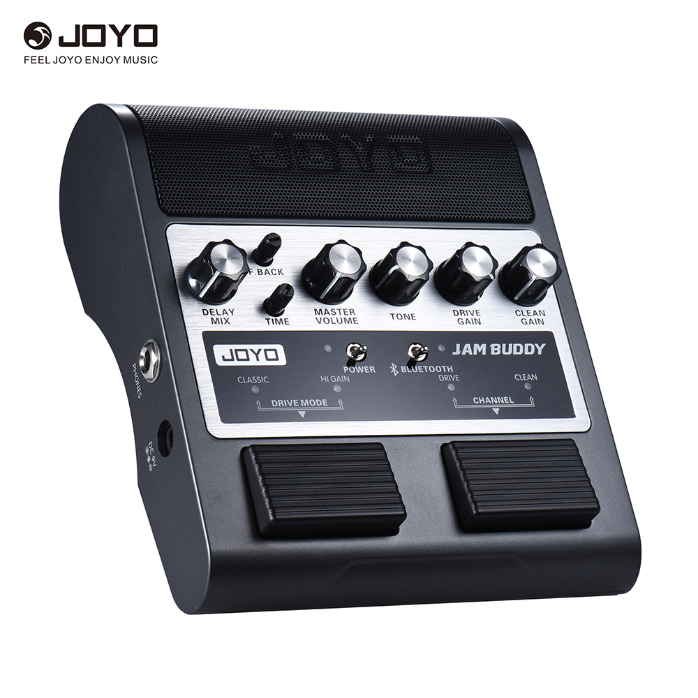 JOYO JAM BUDDY Rechargeable 4 0 Dual Channel 2 4W Pedal Style Guitar Amplifier Amp Speaker