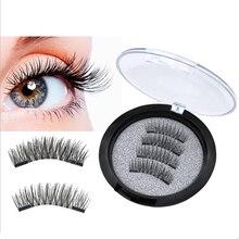 ZHONGHUIRONG3D False Eyelashes Handmade Double Magnets Full Strip Magnetic False Eyelashes Reusable False Eyelashes