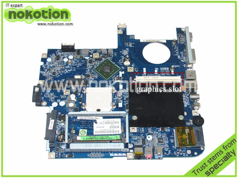 MBAK302002 Laptop Motherboard for ACER Aspire 7520 5520 MB.AK302.002 ICW50 LA-3581P with graphics slot MCP67MV Mainboard