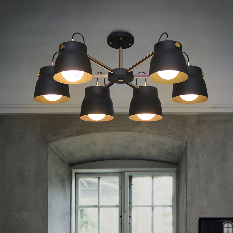 modern metal pendant lamp iron shade suspension industrial light hotel hall restaurant dinning room bar cafe hanging lighting цена