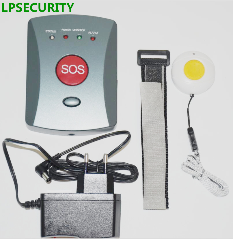 LPSECURITY Kids/patients/Elderly GSM Panic System Senior SOS Emergency Button Caretaker Alert SMS Dialer(grey color buttons) yobangsecurity emergency call system gsm sos button for elderly