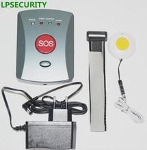 LPSECURITY Enfants/patients/Personnes Âgées GSM Principal Du Système de Panique SOS Bouton D'urgence Gardien Alerte SMS Dialer (gris couleur boutons)