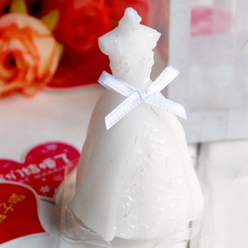 New Wedding Dress Candle Gift Home Parties Decorative Bougie Wax Candles Paraffin Valentine Sparkle Handmade Love In From
