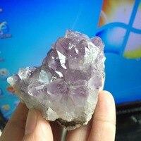 147g Doğal taş ve mineraller ametist küme kuvars kristal numune için feng shui ürünleri satış