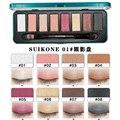 Profesional 8 Color Brillante Brillo Shimmer Caliente Contorno de Maquillaje Paleta de Sombra de Ojos Ahumado Natural Rojo de La Vendimia